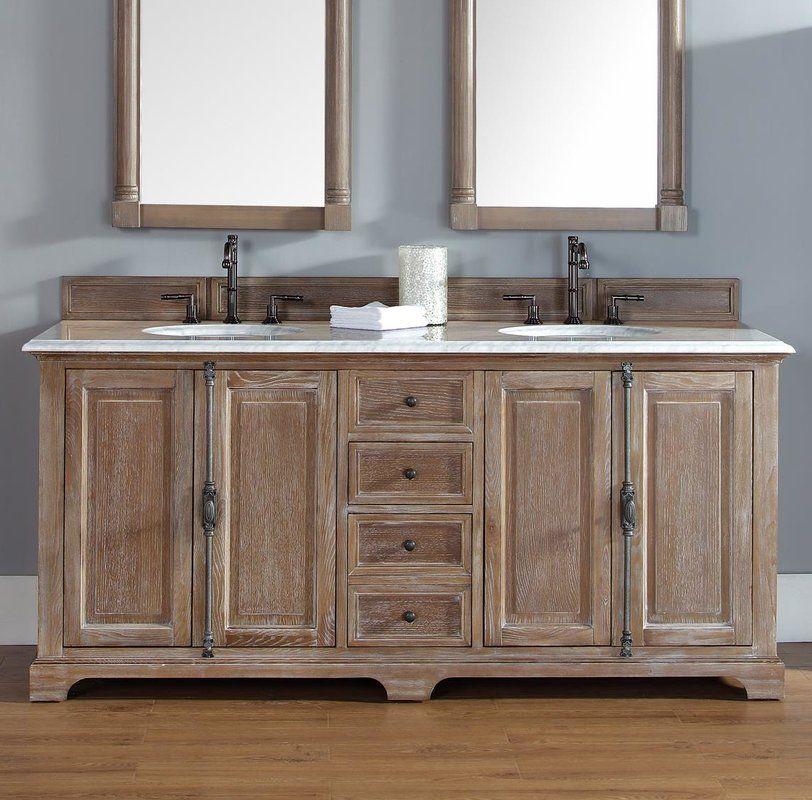 Ogallala 72 Double Bathroom Vanity Set 2 788 00 Overall 34 3 H