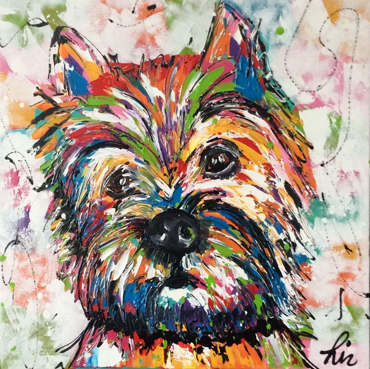 Mijn Cairn Terrier Sjors Geschilderd Door Vrolijk Schilderij Dog Art Dog Drawing Cairn Terrier