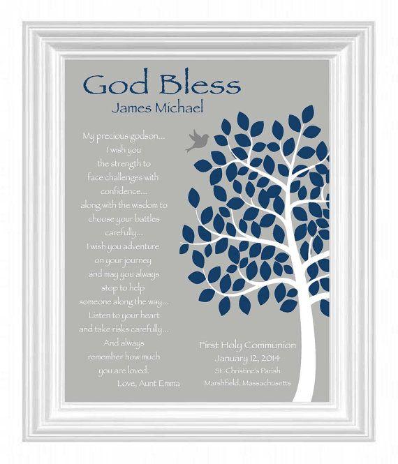 ON SALE,Communion Gift Personalized Communion Gift,Christening Gift Communion gift from Godmother Godfather Godparents Communion Frame