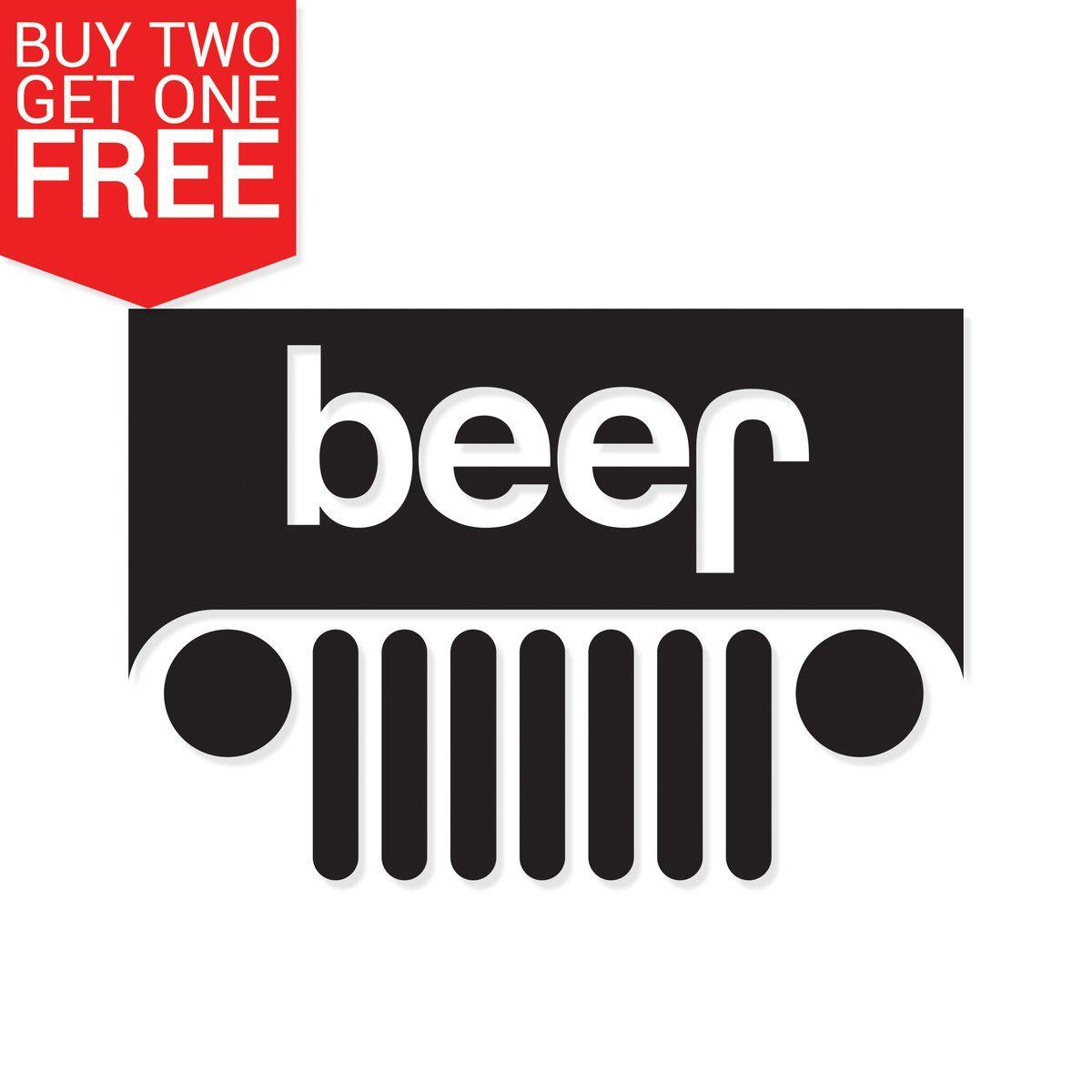 Beer Jeep Vinyl Decal 8 Bit Decals With Images Jeep Decals