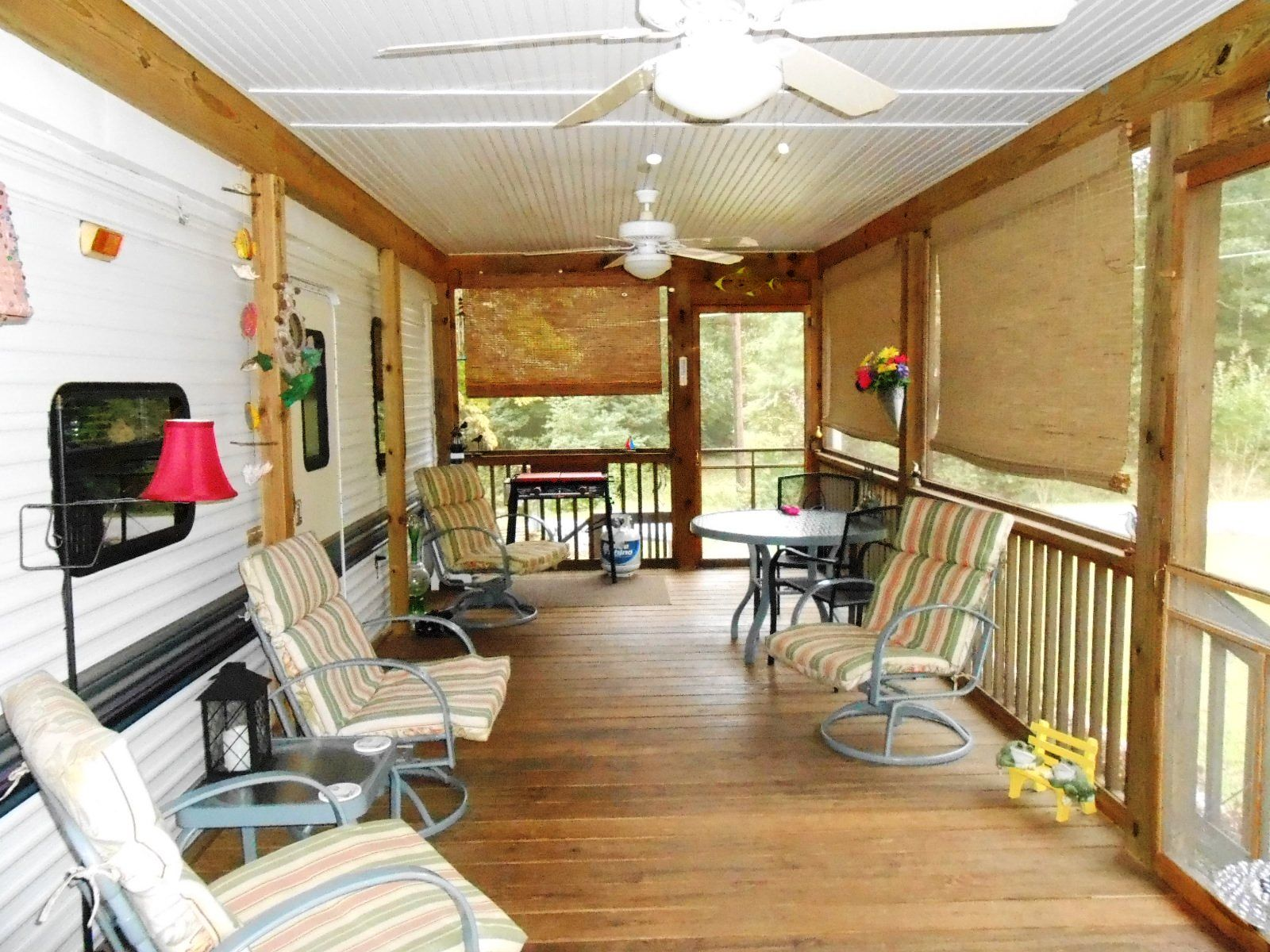 Living In A Travel Trailer Full Time >> camper covered porch - Google Search | Living in a camper full time | Pinterest | Covered ...