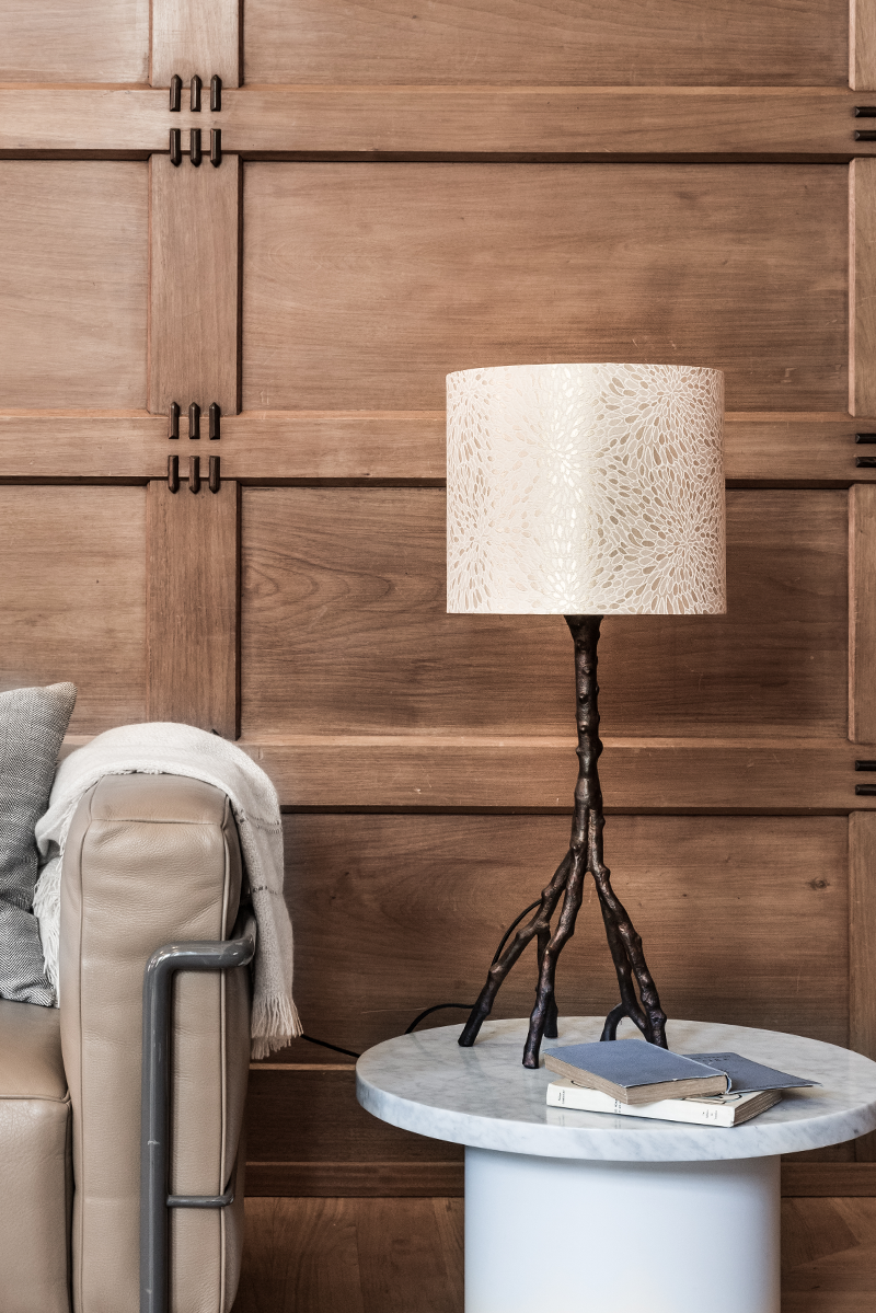 Table Lamp Stand Woody Is A Rough Knotty Up Side Down Branch With