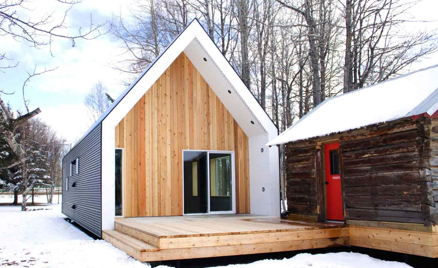 Small Energy Efficient Barn House In Alberta Canada With