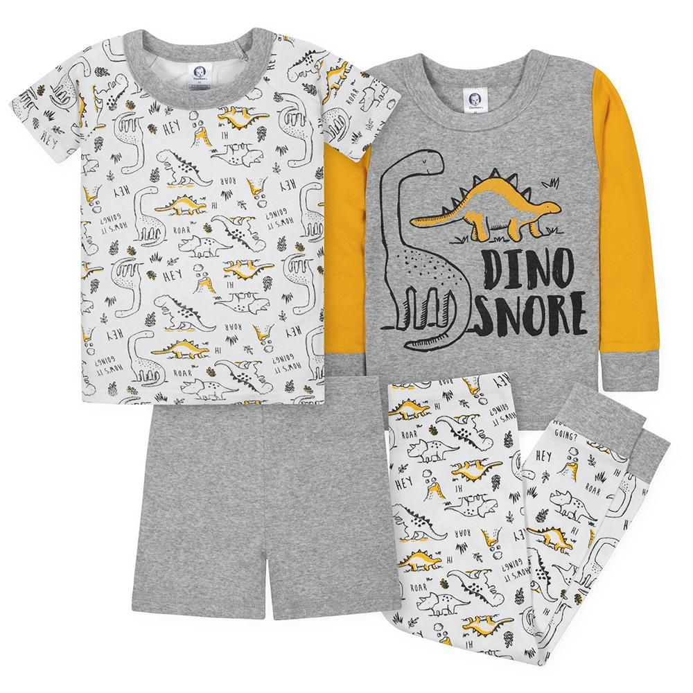 Photo of 4-Piece Boys Dino Snug Fit Pajama Set