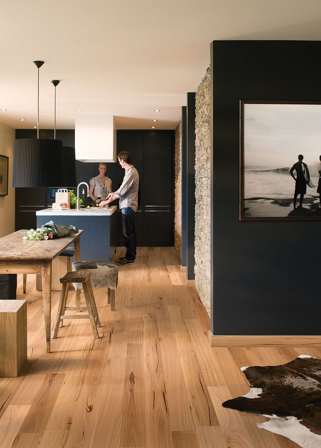 Parquet Flooring Kitchen Quick Step Readyflor Blackbutt 1strip Gmrf18bbtsp Parquet