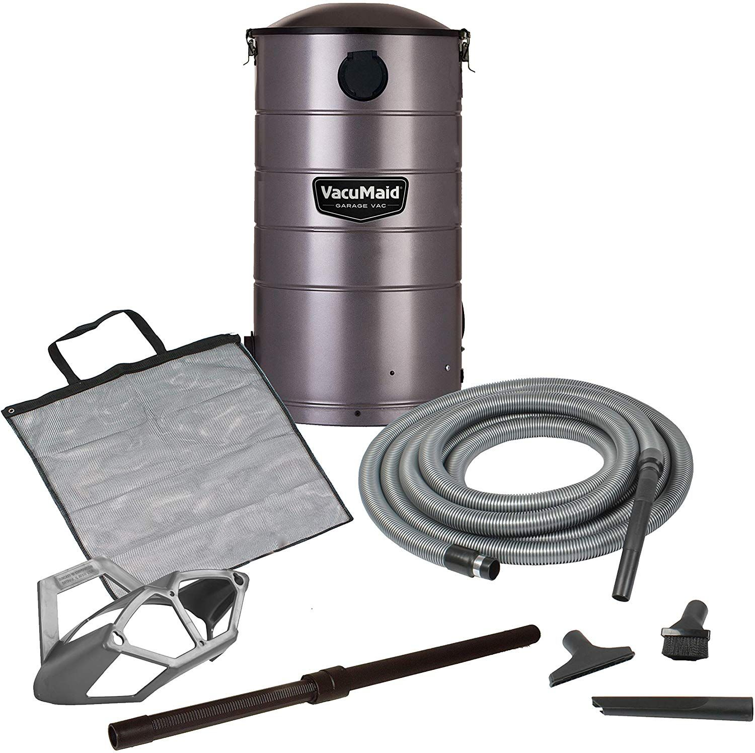VacuMaid GV50 Wall Mounted Garage and Car Vacuum with 50