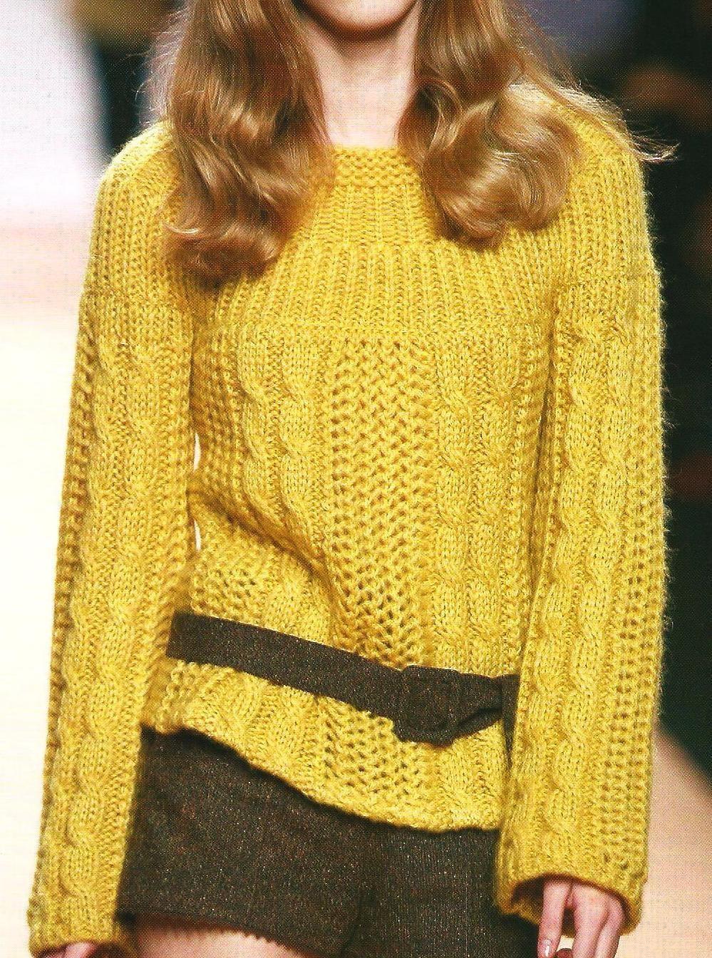 Su 233 Ter Con Trenzas Knitting Project Knit Fashion