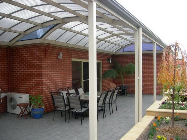Arched Pergola Attached To House