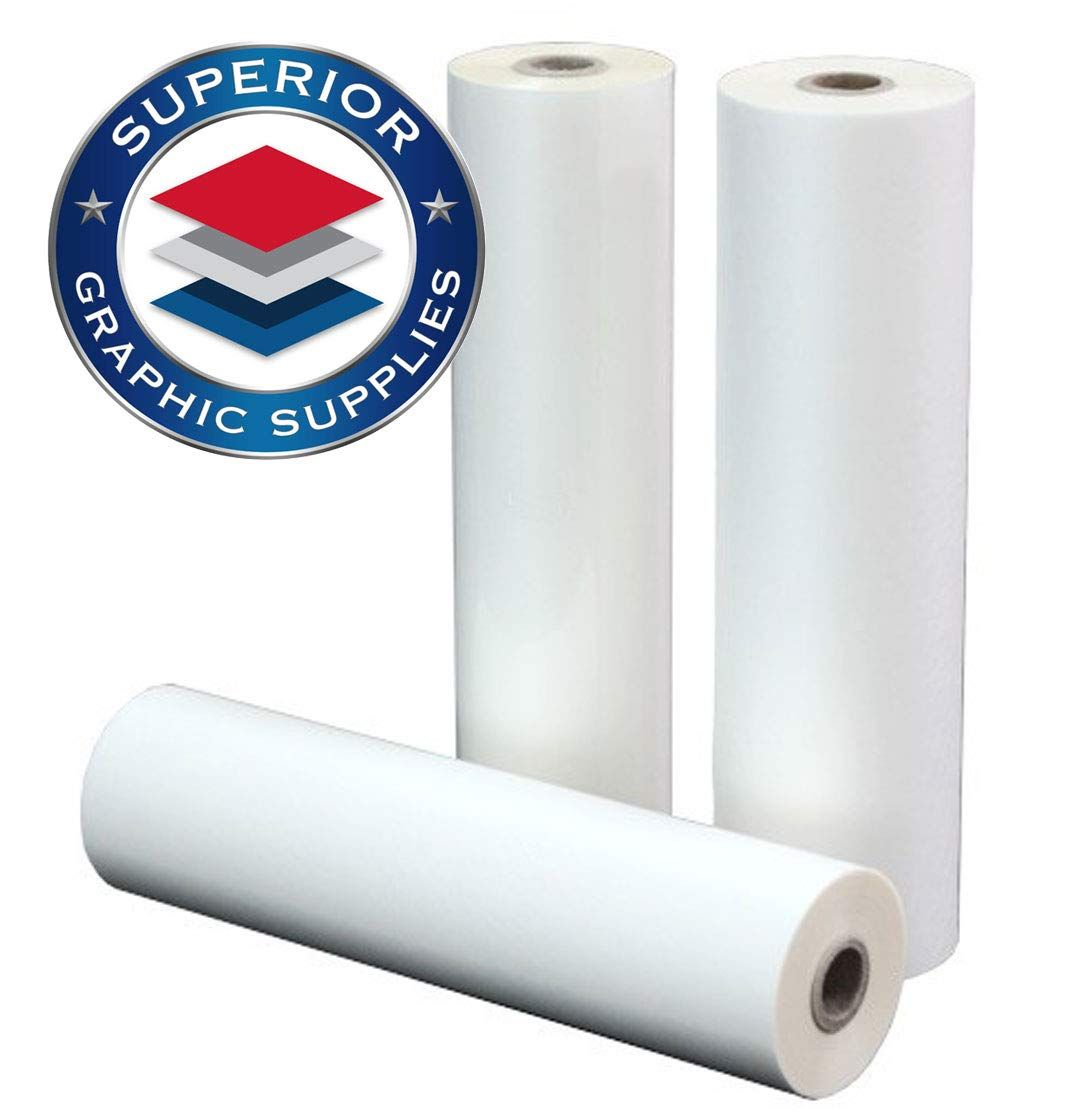 Superior Graphic Supplies Pet Laminating Film Roll 27 X 500 1 Inch Core 1 7 Mil 0 0017 Thick Clear Gloss 1 Rol Rolling Packing Film Roll Glue Crafts