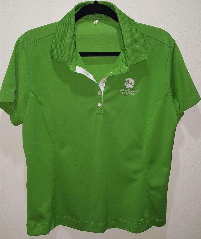 f203d1e5 John Deere Classic Nike Golf Green Polo Shirt ~ Women's X-Large ~ FitDry  Dri-Fit #Nike
