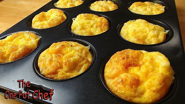 Oven Baked mini Omelets-375 degrees for 20-25 min.
