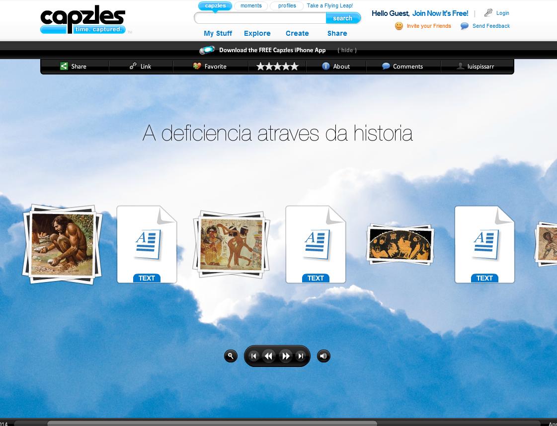 José Luis Pissarro (Capzles sobre A Deficiência através da História) - http://www.capzles.com/#/3819e8b7-dd50-47cc-92f2-3ab604e7793d/