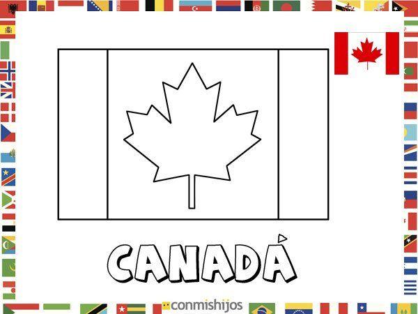 Bandera de Canadá. Dibujos de banderas para pintar | Canadá ...