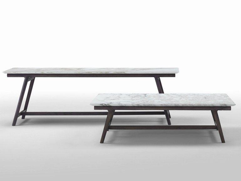 Rectangular marble coffee table GIANO FLEXFORM Furniture Coffee
