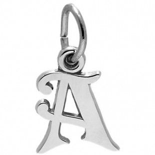 Rembrandt A-Z: Initials Charm, Sterling Silver