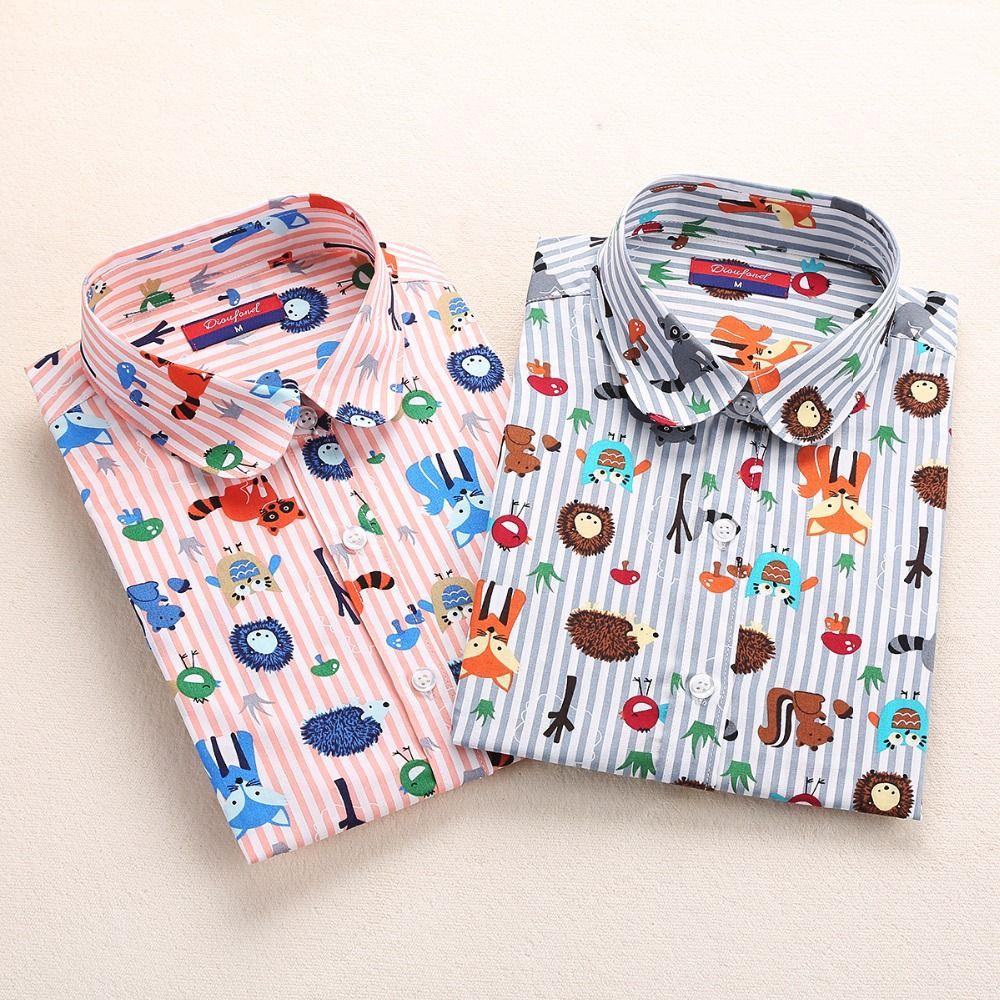733658db136 Cotton Women Shirts Blouses Floral Long Sleeve Women Tops Ladies Blusa  Feminina Elegant Clothing 5XL Plus