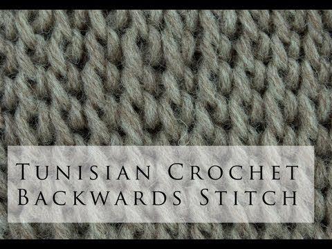 Tunisian Crochet Backwards Simple Stitch