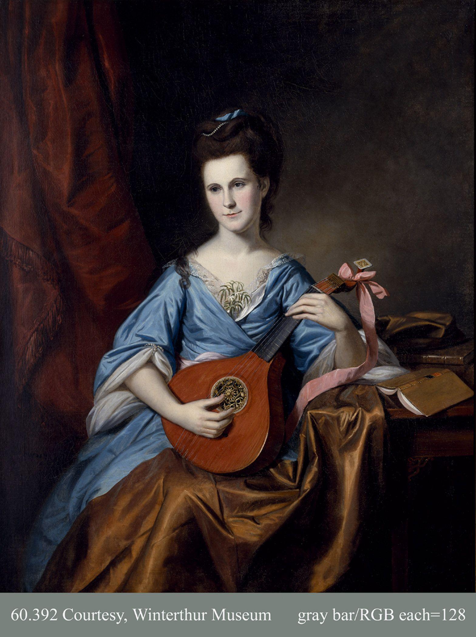 Julia Stockton Rush Mrs Benjamin Rush By Charles