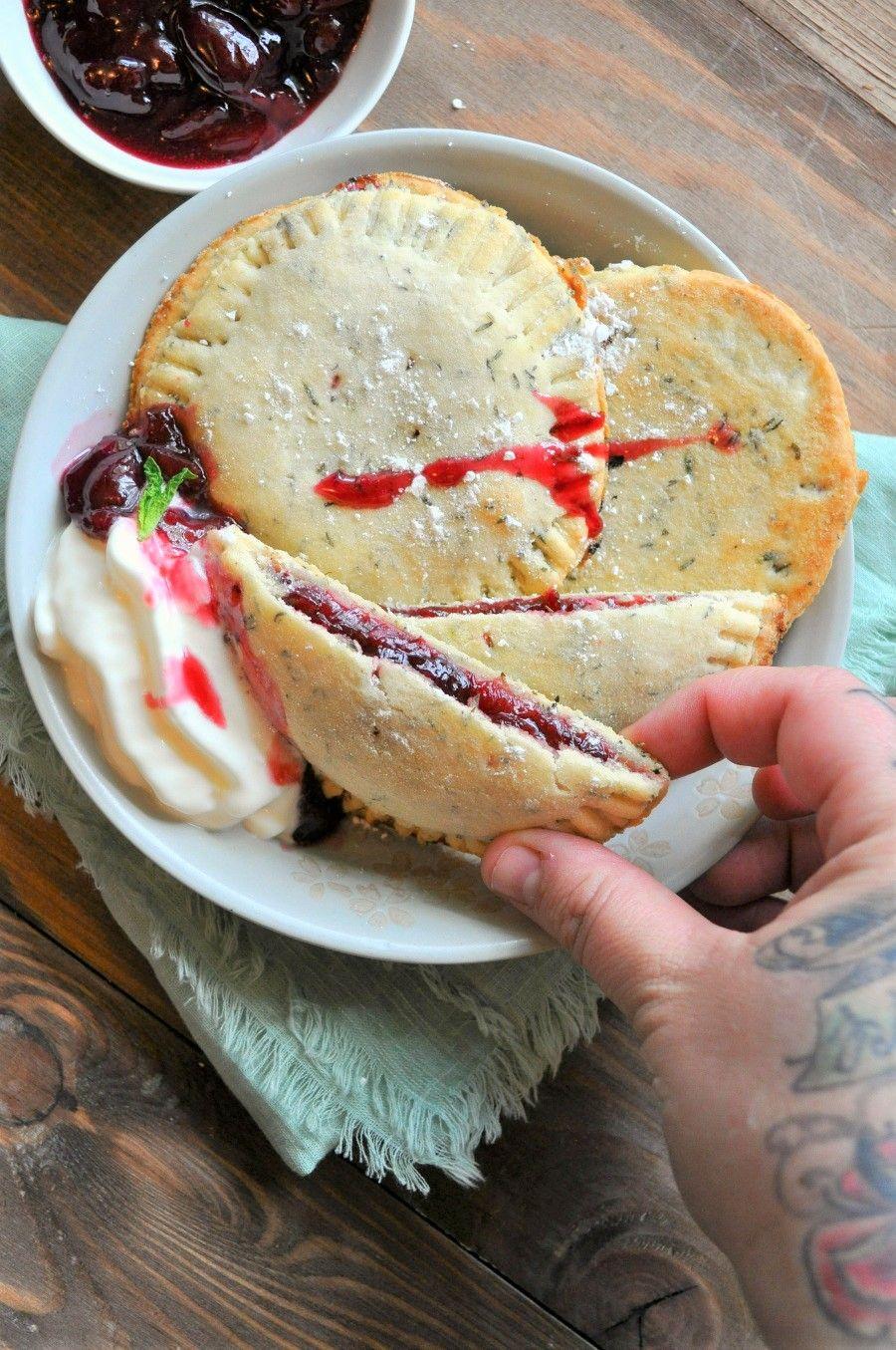 Vegan Cherry Thyme Hand Pies