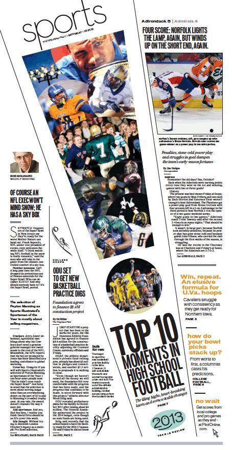 Love this diagonal pop out design #yearbook Sports, Dec 21, 2013 - school newspaper template