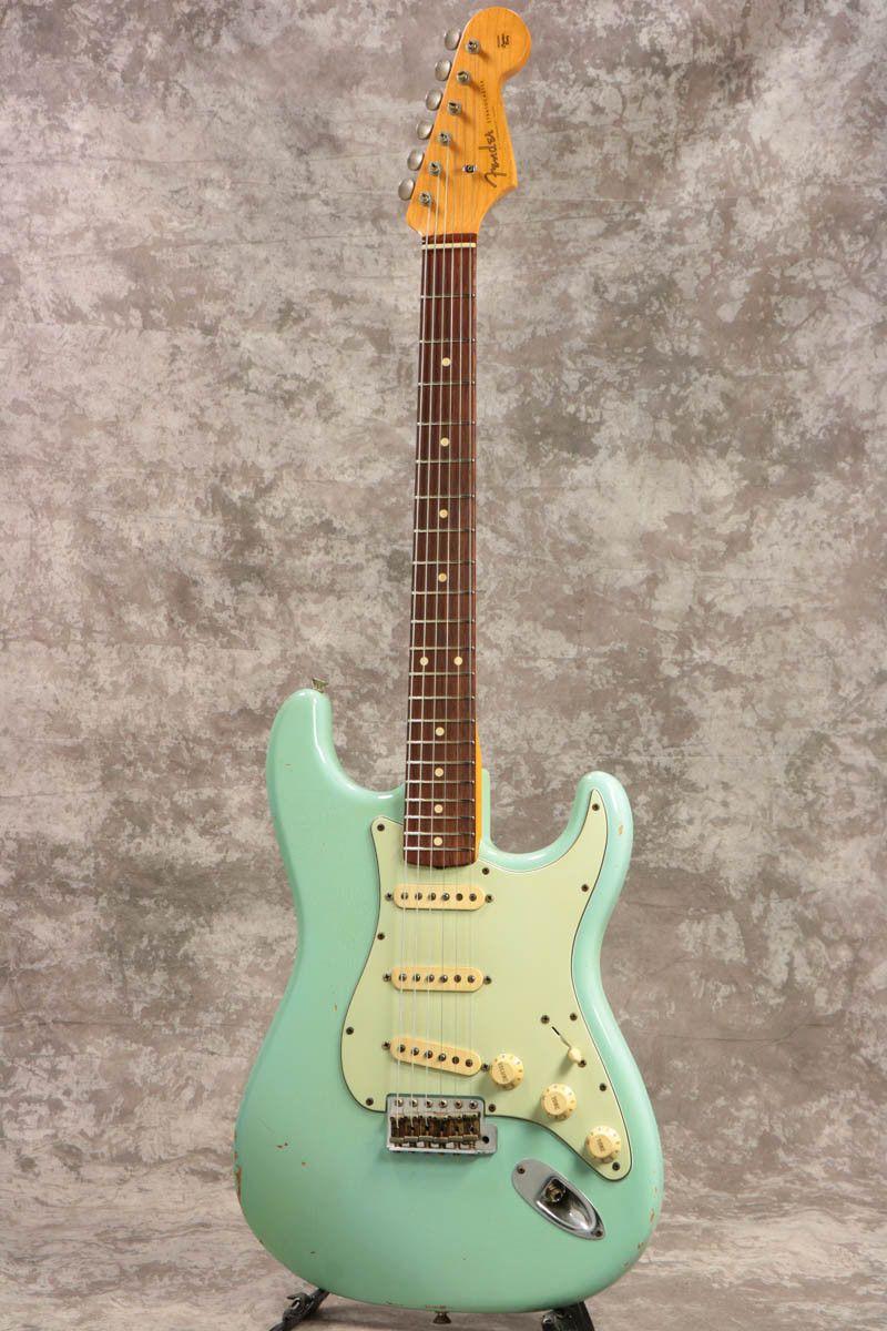 Used Fender Custom 1960 Stratocaster Relic Daphne Blue 2005 Electric Guitar Ebay Guitarras Guitarras Fender Guitarra Electrica
