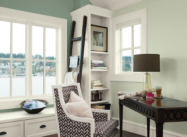 Interior Paint Ideas And Inspiration Home Office Colors Home Office Space Green Home Offices