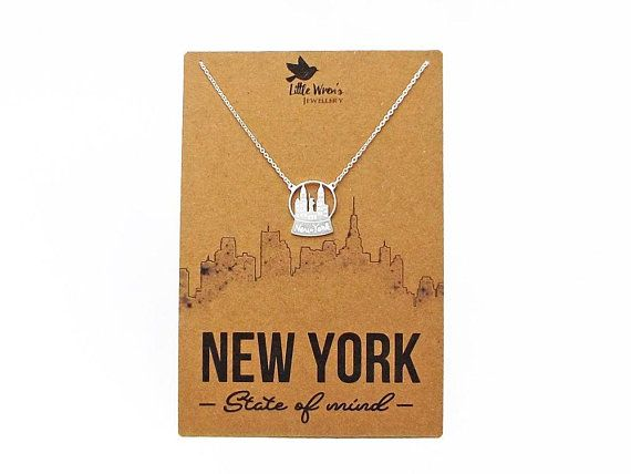 New York City Necklace Gold Dainty Necklace Gift For