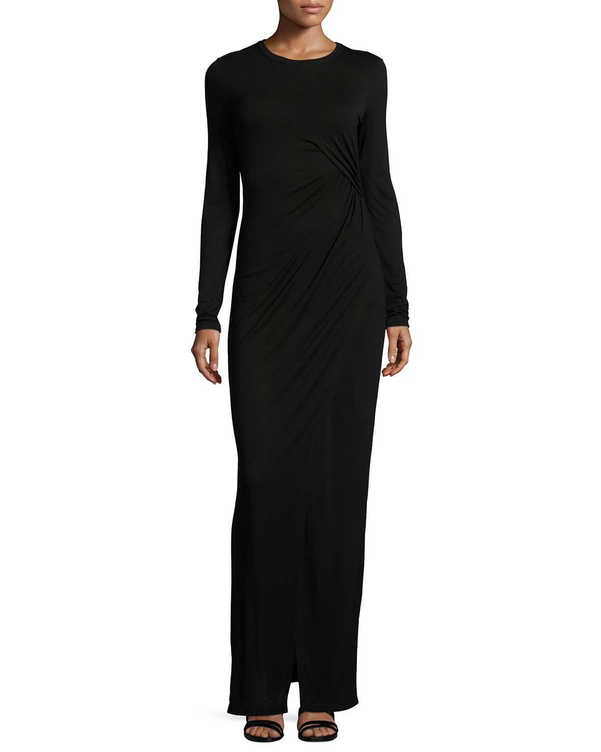 Vincent longsleeve maxi dress black size xsmall clothing