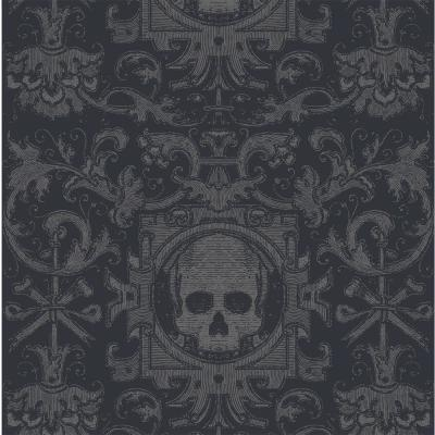 Mitchell Black Bull Smoke Fabric Peelable Wallpaper Covers 36 Sq Ft Wc344 1 St 18 The Home Depot Home Depot Wallpaper Wallpaper Traditional Wallpaper