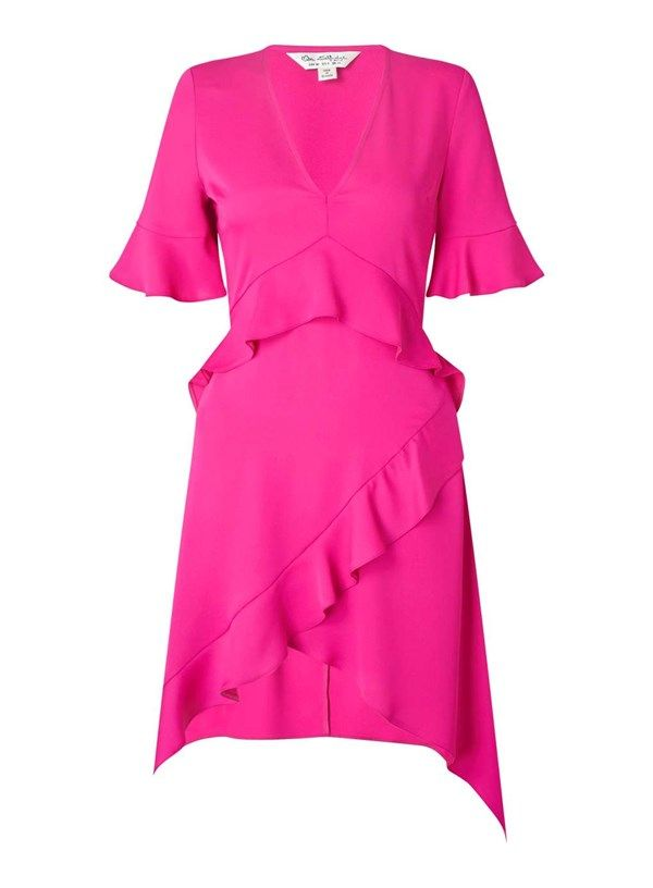 9e30ed02ee29 Dance up a storm in this fun and flirty hot pink dress from Miss Selfridge  - move quickly