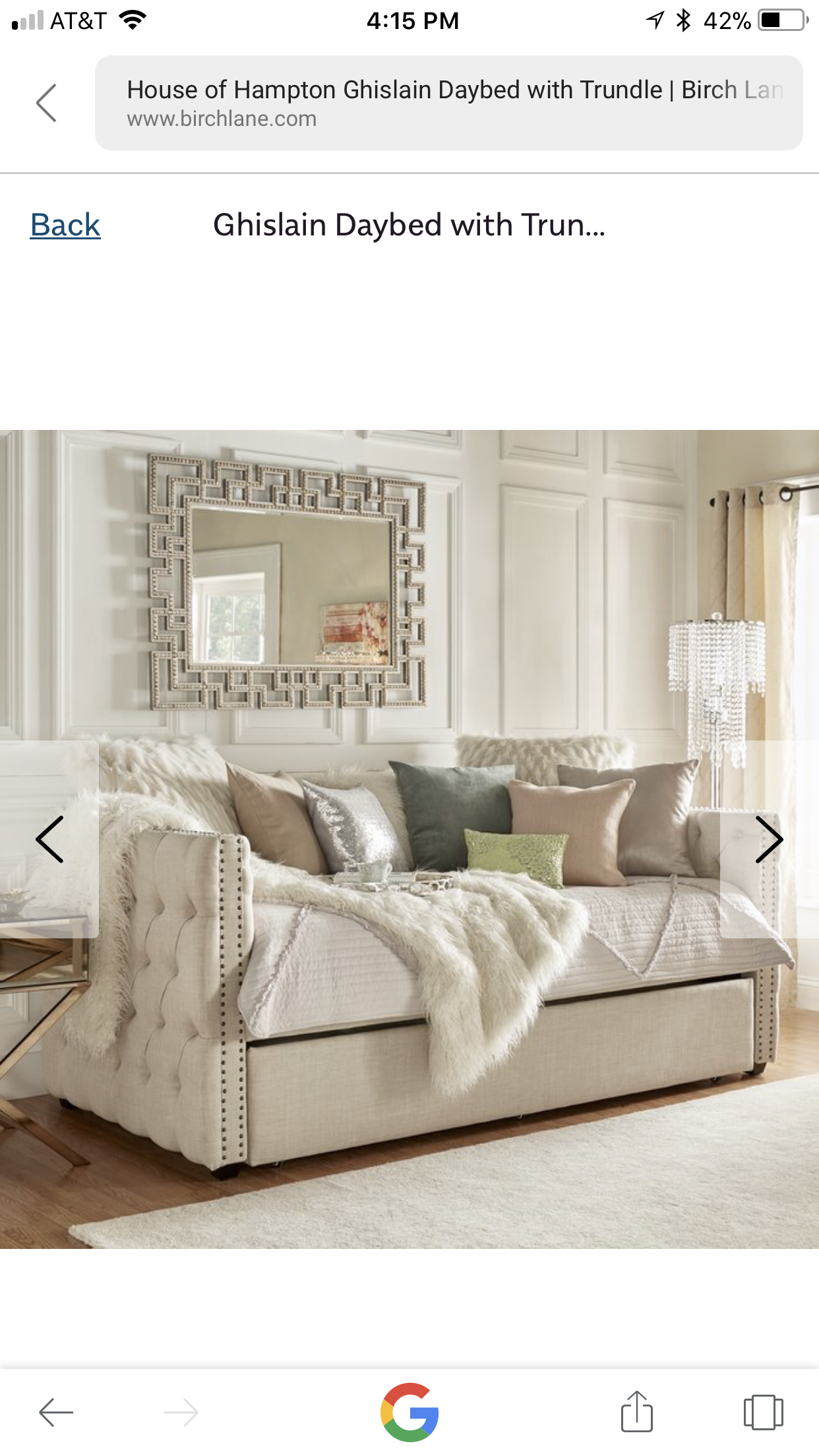 Love this for Caroline's bed. Is it too big for room