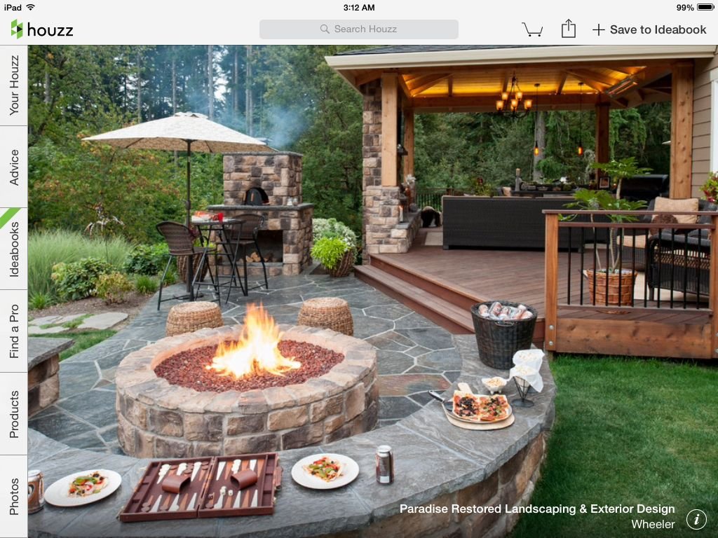 Patio off the deck with fire pit | InsideOut | Pinterest | Decking ...