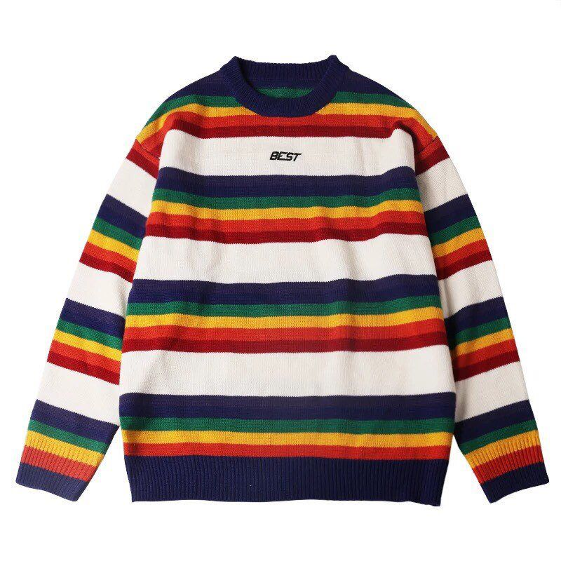 9724cae07a Excited to share this item from my  etsy shop  Vintage Rainbow Pullover  Sweater
