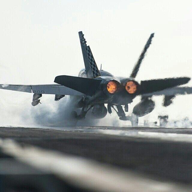 F-18 Super Hornet Aircraft Carrier launch