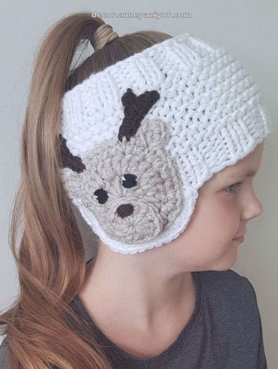 Knit Earwarmer, Christmas Outfit, Reindeer Hat, Knit Headband, Messy Bun Hat, Girls Accessories, Winter Outfit, Kids Outfit, Toddler Outfit - #Accessories #Bun #Christmas #Earwarmer #Girls #Hat #Headband #Kids #Knit #Messy #Outfit #Reindeer #Toddler #Winter #kidsmessyhats