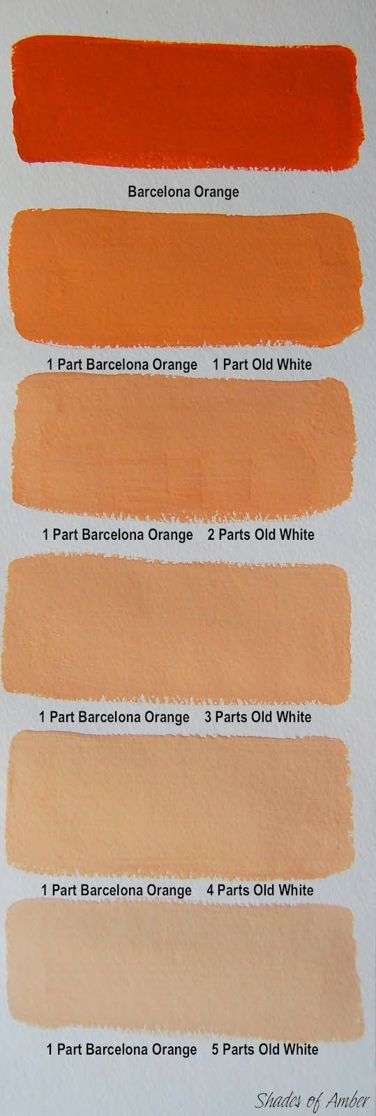 Shades Of Amber Chalk Paint Color Theory