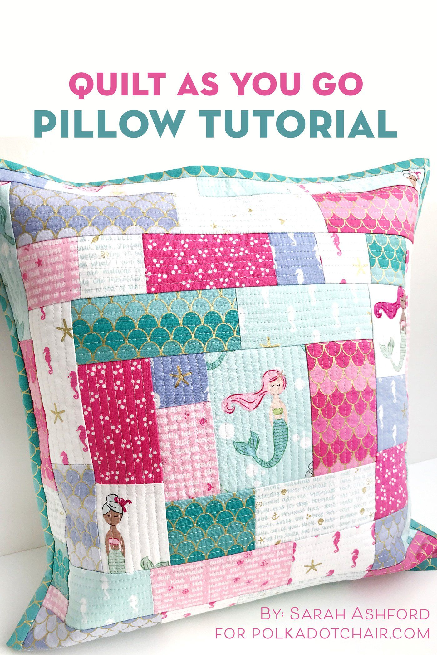 How To Make A Simple Patchwork Pillow Using The Quilt As You Go