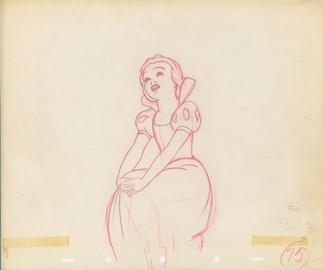 Production Drawing of Snow White from Snow White And The Seven ...