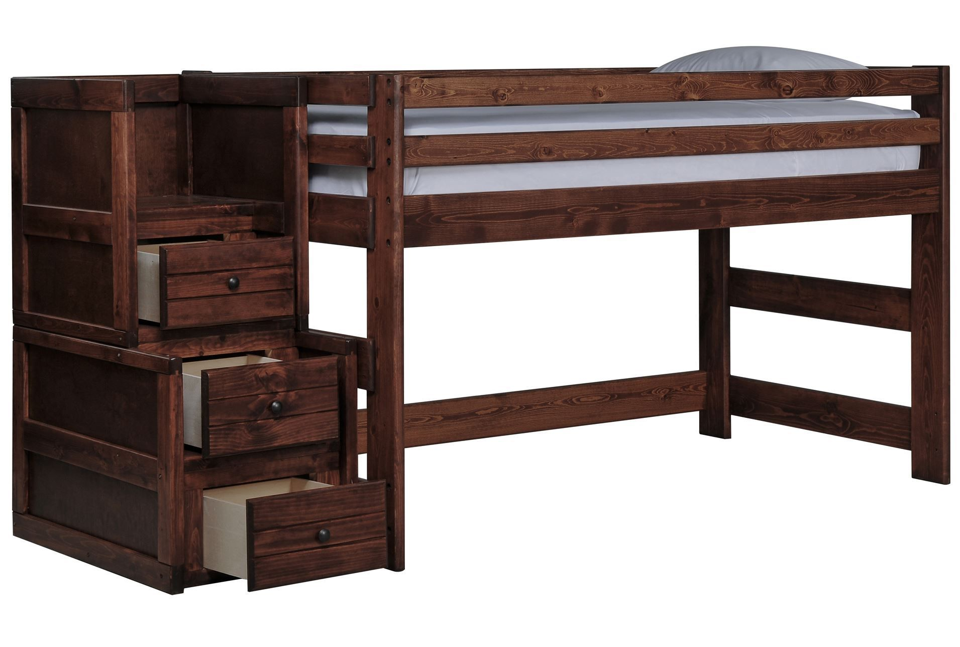 Junior loft bed ideas  Junior Loft Bed With Junior Stair Chest Sedona Brown  Pinterest