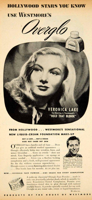 Beauty  Westmore, Veronica lake, Beauty ad