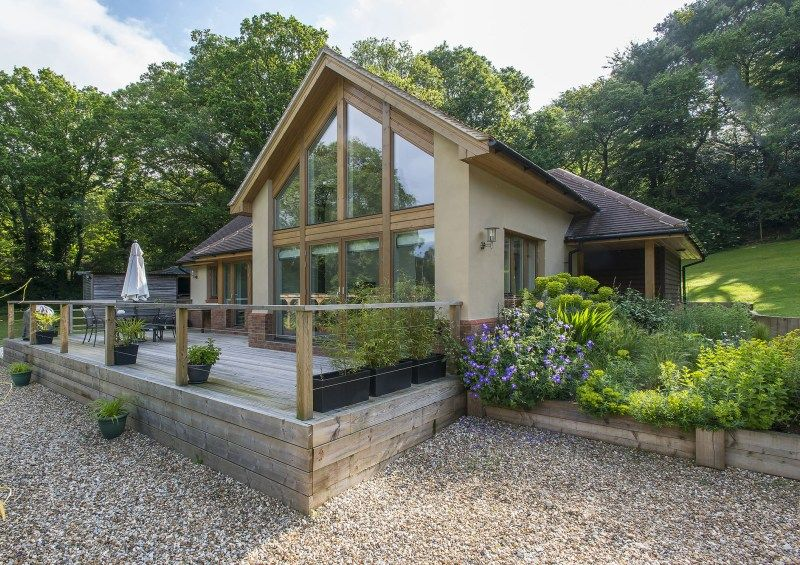 The hawthorn timber framed home designs scandia hus for Timber frame bungalow