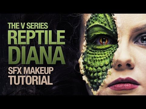 The V series 1983 reptile Diana sfx makeup tutorial - YouTube ...