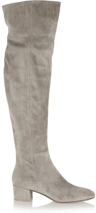 Sale Free Shipping 100% Authentic Gianvito Rossi Woman Suede Over-the-knee Boots Taupe Size 40.5 Gianvito Rossi Cheap From China Outlet Free Shipping Authentic Cheapest For Sale jg7VBxSR