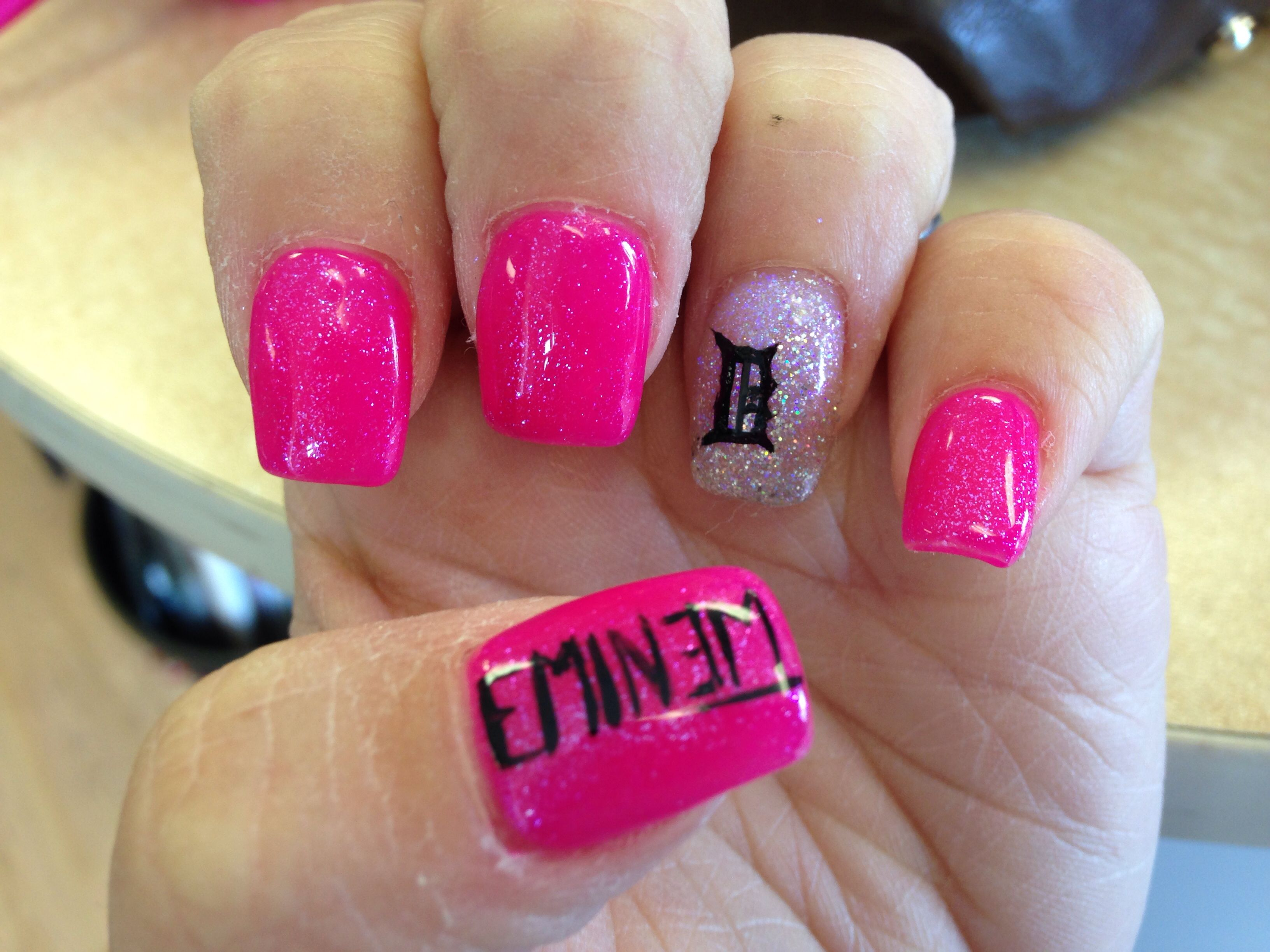 Eminem/Detroit nails! | Nails! | Pinterest | Eminem, Tiger nails and ...