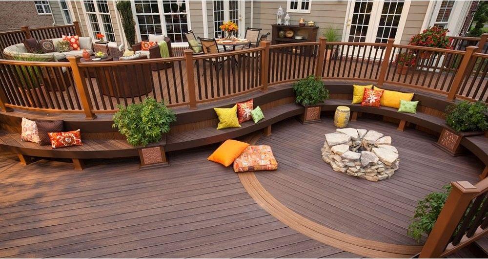 find dozens of decking photos to jumpstart your own deck patio design ideas featuring luxury high performance trex decking railing lighting - Trex Deck Design Ideas