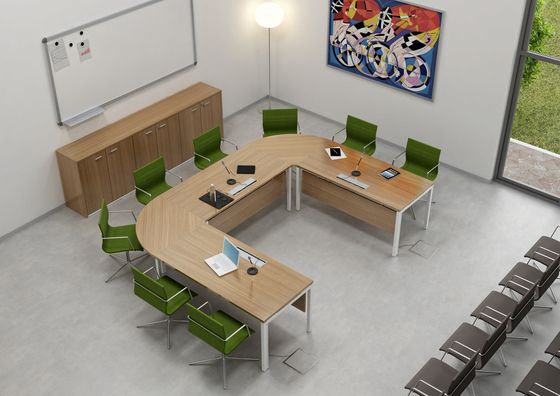 Idea By Quadrifoglio Office Furniture Multimedia Conference - Multimedia conference table