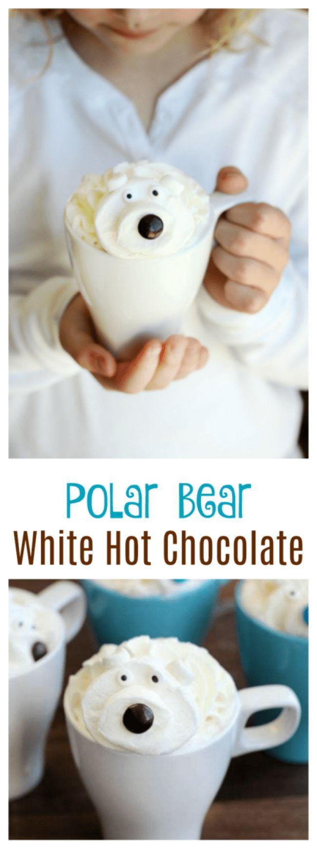 White Hot Chocolate Recipe With Polar Bear Marshmallows