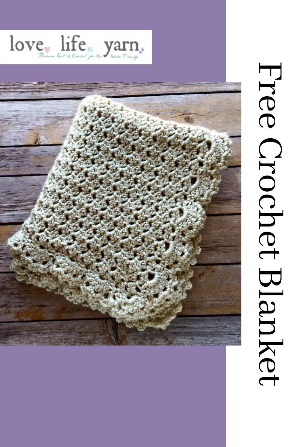 Photo of Free Baby Blanket Pattern (Crochet)