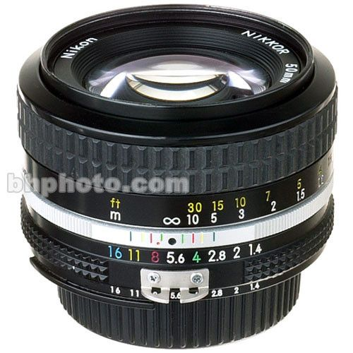 Used Nikon Normal 50mm F 1 4 Ai Manual Focus Lens B H Photo Nikon Manual Focus Lens