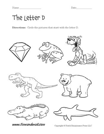 Letter D Worksheets Preschool Alphabet Printables Letter D Worksheet Preschool Alphabet Printables Kindergarten Worksheets Printable